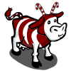 Candy Cane Cow-icon