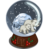 Polar Bear Globe-icon