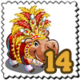 Duo Colored Hippo Stamp-icon
