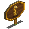 Gold Seahorse Mastery Sign-icon