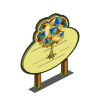 Beach Umbrella Tree Mastery Sign-icon
