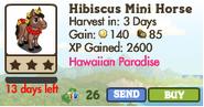 Hibiscus Mini Horse Market Info (April 2012)