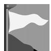 White triangle flag-icon