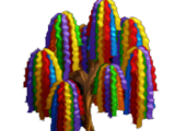 Rainbow Streamers Tree