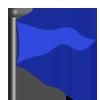 Blue triangle flag-icon