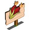 Red Corn Mastery Sign-icon
