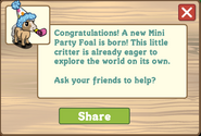 Mini party foal message