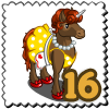 50s Mom Unicorn Stamp-icon