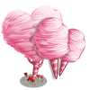 Big Heart Cotton Candy Tree-icon