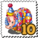 Party Rhino Stamp-icon