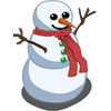 Winter snowman-icon
