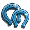 Blue Horseshoe-icon