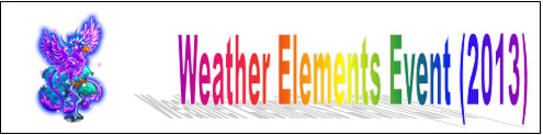 Weather Elements Event (2013) Event Banner