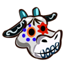 Cow Sugar Skull-icon