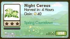 Night Cereus Market Info
