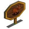 Shorthorn Cow Mastery Sign-icon