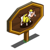 Yellow Referee Cow Mastery Sign-icon
