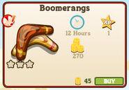 Boomerangs Market Info