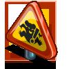 Beware of Drop Bear Sign-icon