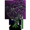 Black Rose Hearts Tree-icon