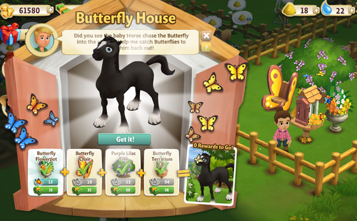 Butterfly House reward