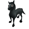 Baby Black Arabian Horse