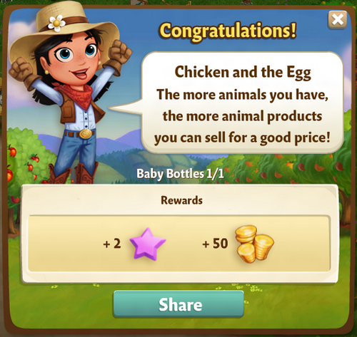 Chicken and the Egg Reward