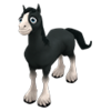 Baby Black Shire Horse