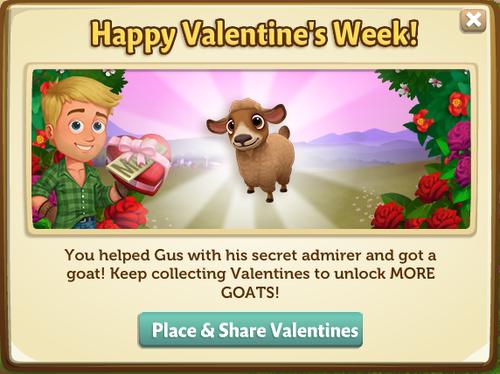 Caramel Pygora Goat reward from Valentine
