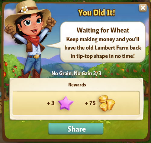 Waiting for Wheat Reward