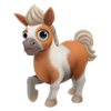 Baby Brown Skewbald Mini Horse