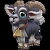 Black Pyrenean Goat