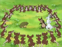 Rats surround Toad