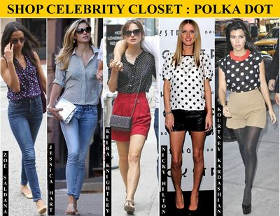 SHOP CELEBRITY CLOSET POLKA DOT