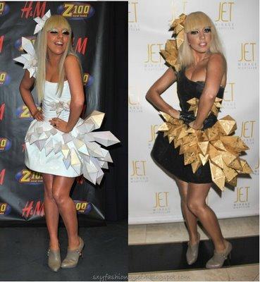 Lady Gaga Origami Dress Jpeg