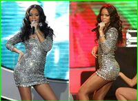 Rihanna in a Sequin Dress