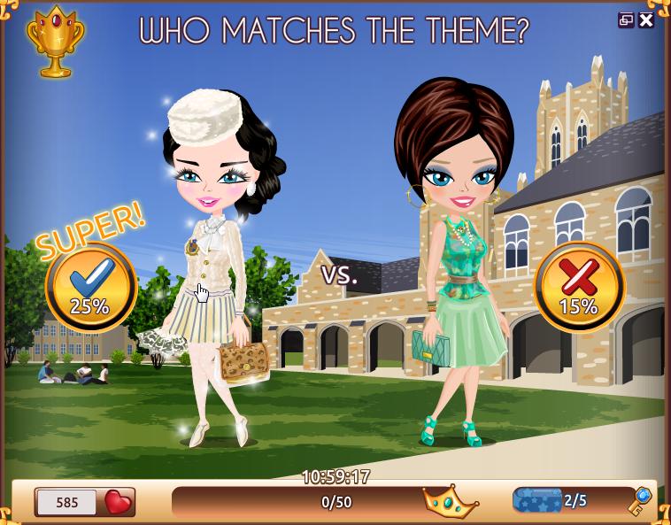 Dress up fashion facebook games
