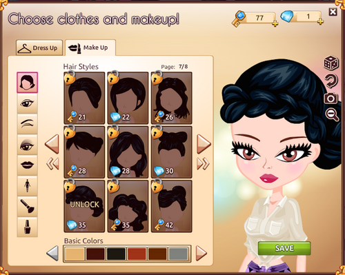 Make Up Hair Style 1