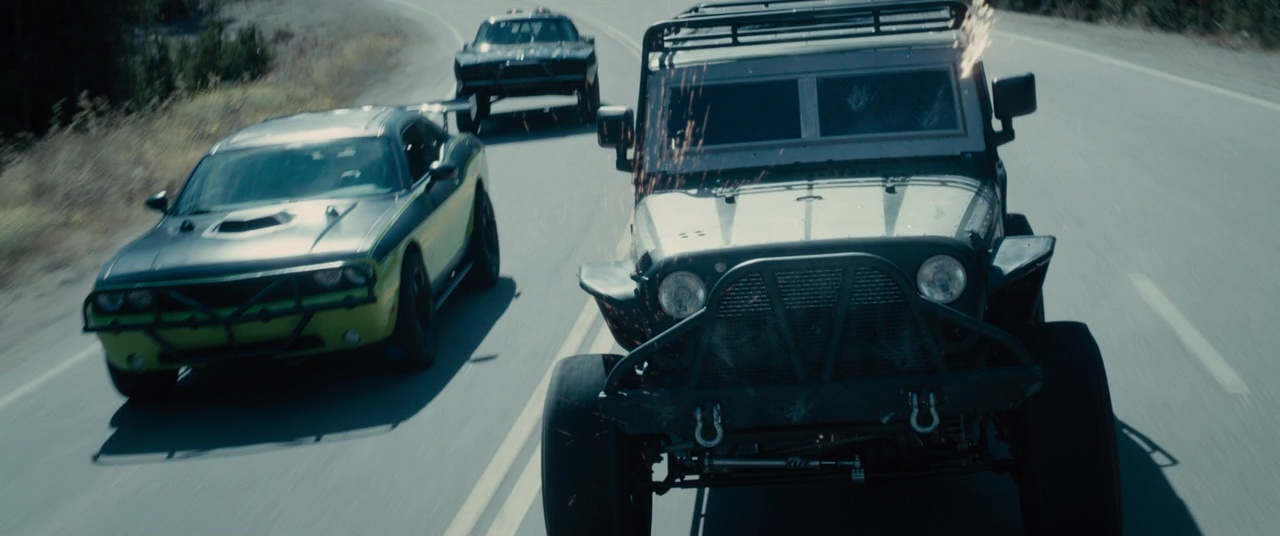 Image - Letty's Challenger & Tej's Jeep - FF7.jpg | The Fast and the