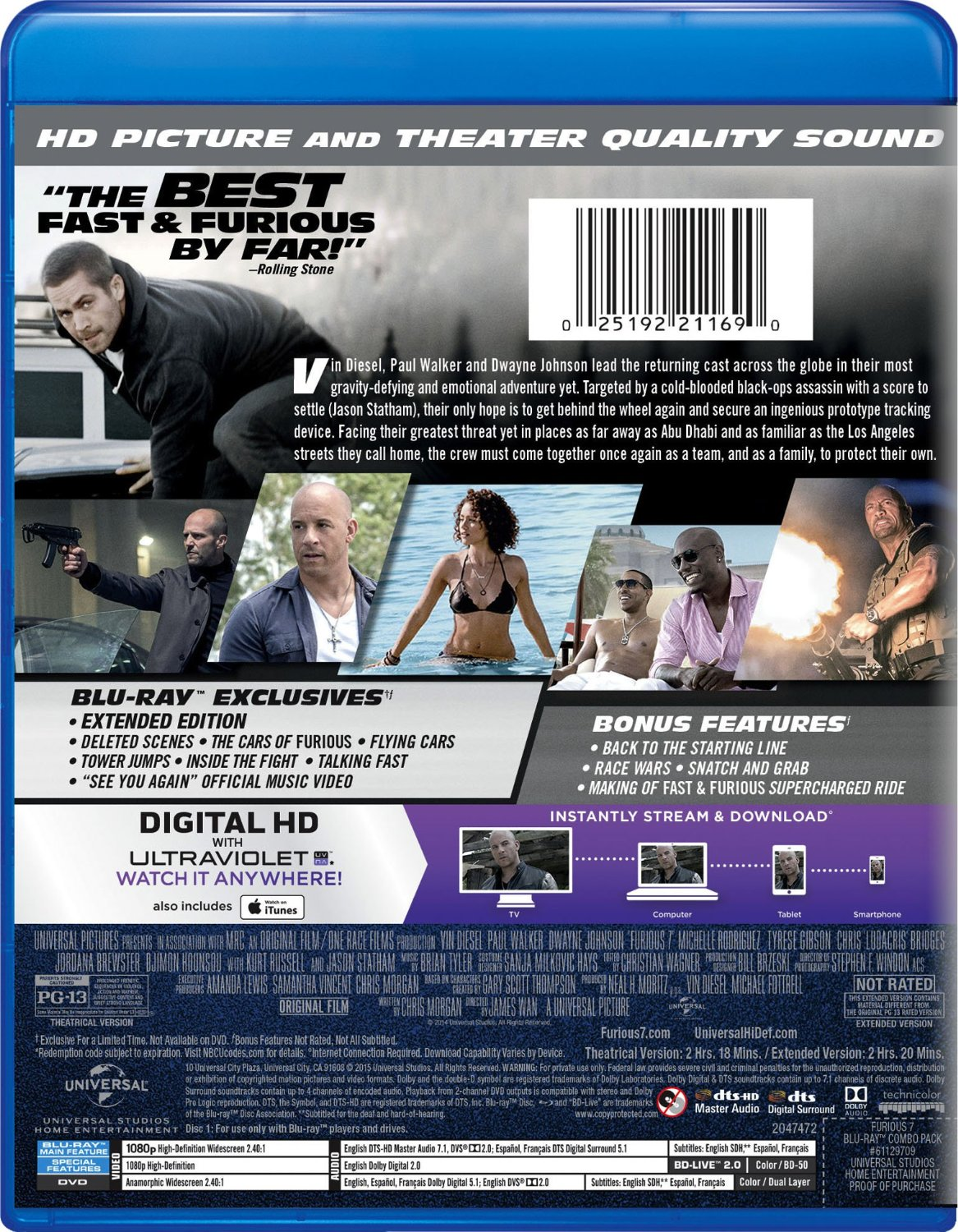 Image Furious 7 Bluray 03 Jpg The Fast And The