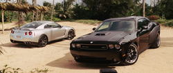 Brian's GT-R & Dom's Challenger - Fast Five