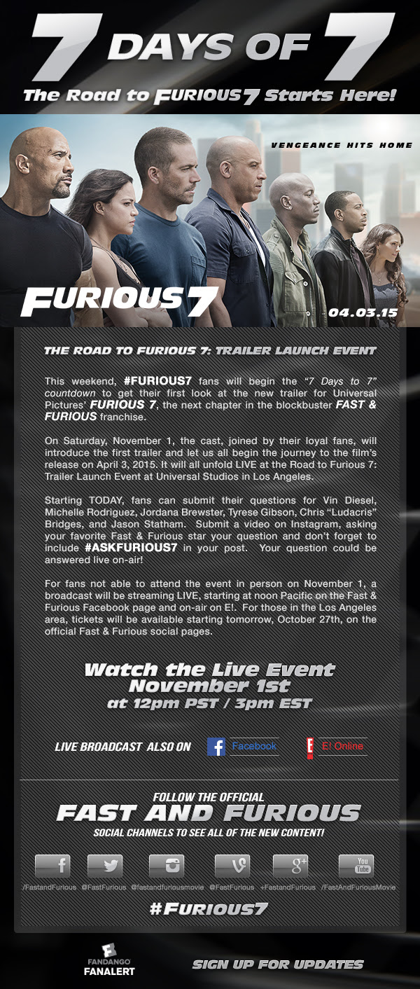 Fast And Furious Wikia 7daysof7 Poster 001