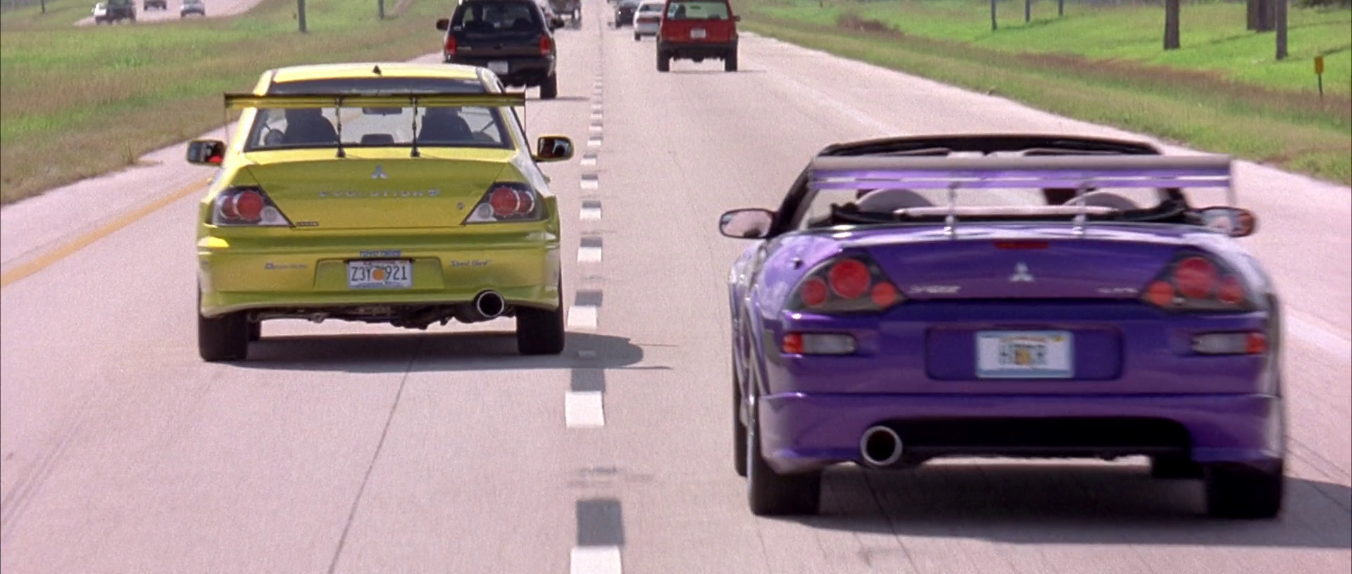 image - lancer evo & eclipse spyder - on the move (2) | the