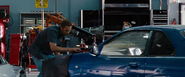 Brian working on the Skyline GT-R