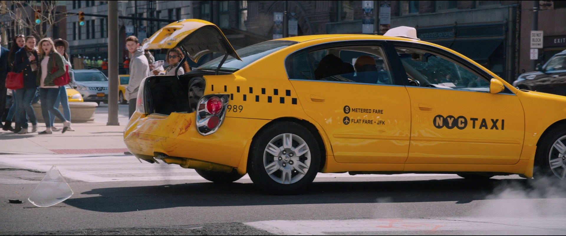 Image - Damaged Nissan Altima Taxi Cab (NYC - F8).png   The Fast and