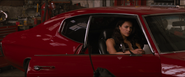 Letty sitting inside the Chevelle (F8)