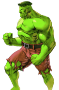 Marvel Comics - The Hulk as seen in Marvel VS Capcom 2