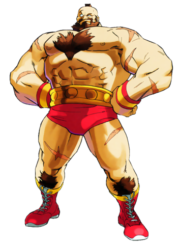 Street Fighter - Zangief as he appears in Marvel vs Capcom