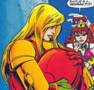 Metroid - Samus Aran as she appears in the Captain N Comics