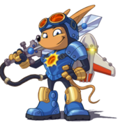 Rocket Knight - Sparkster as he appears in Rocket Knight (2010)